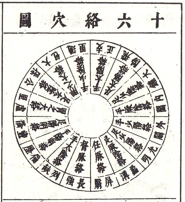 類経_十六絡穴図より (C)表参道・青山・原宿・渋谷エリアにある源保堂鍼灸院