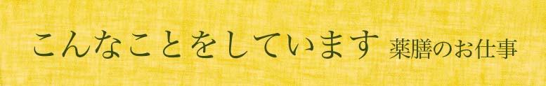 こんなことをしています薬膳のお仕事 ごはんとからだと 薬膳相談室(C)表参道・青山・渋谷エリアの源保堂鍼灸院 Tokyo, Japan, authentic acupuncture clinic